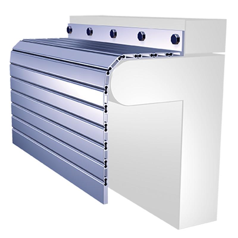 aluminum roll up machine guard