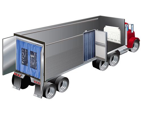 refrigerated truck pvc strip door curtain