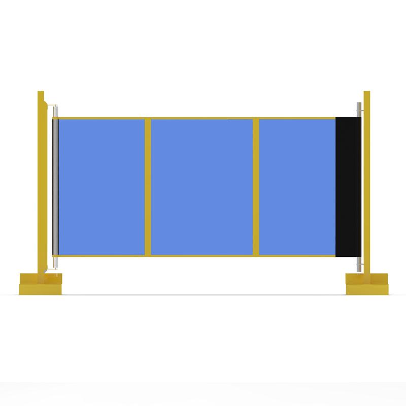 retractable weld screen
