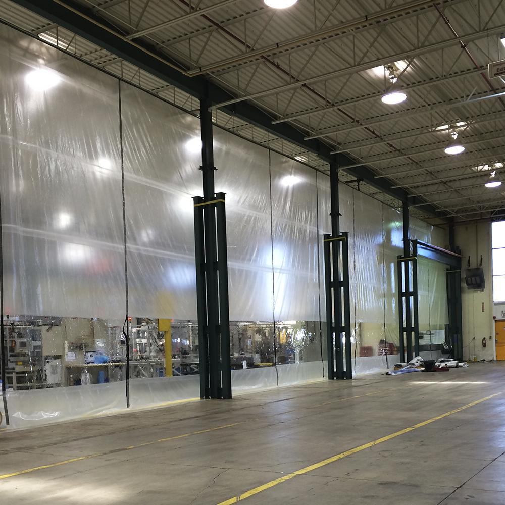 industrial curtain enclosures